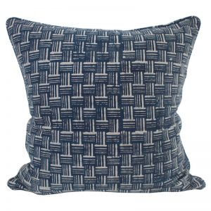 Cushion | Walter G | Wicker Indigo Cotton