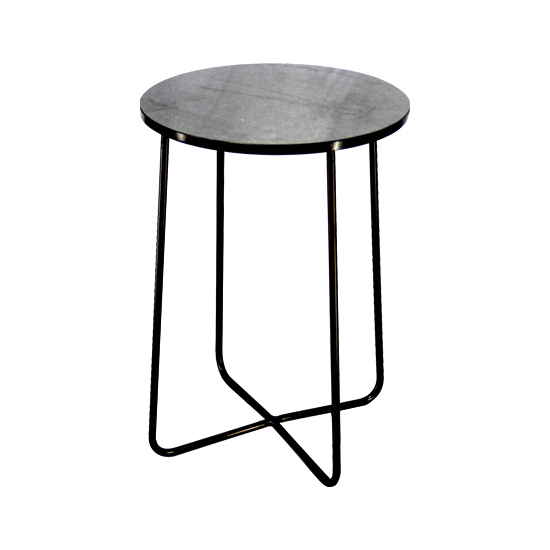 best service 34f63 3542b Marble & Metal Side Table