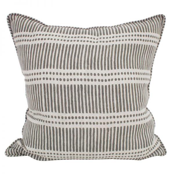 Cushion | Walter G | Dash Dot Mud Linen