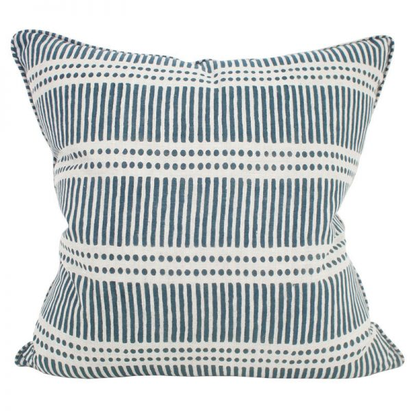 Cushion | Walter G | Dash Dot Pacific Blue Linen