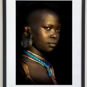 Framed   Karo Woman with Beaded Necklace