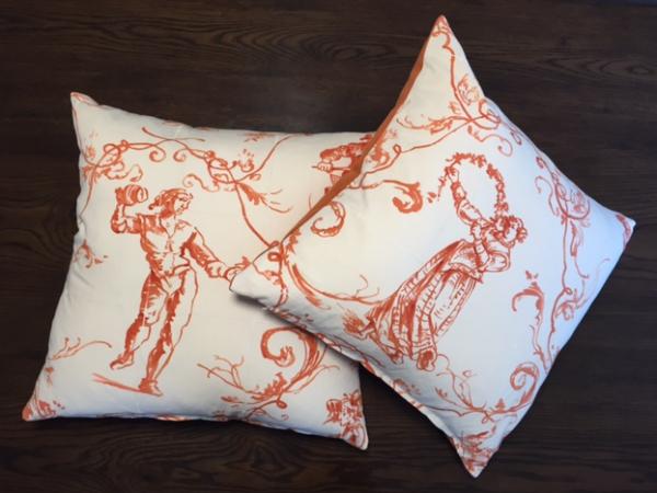 Cushion   Sintra Orange   Wendy Kaesar